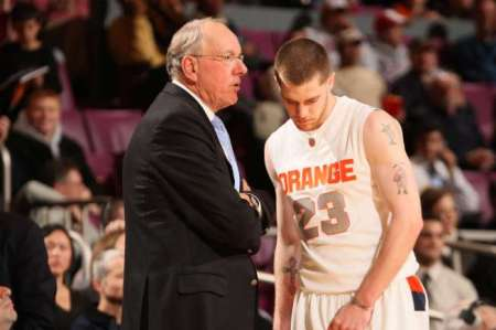 We wonder if Boeheim ever whispered a 'what the hell were you thinking?' into this hothead's ear